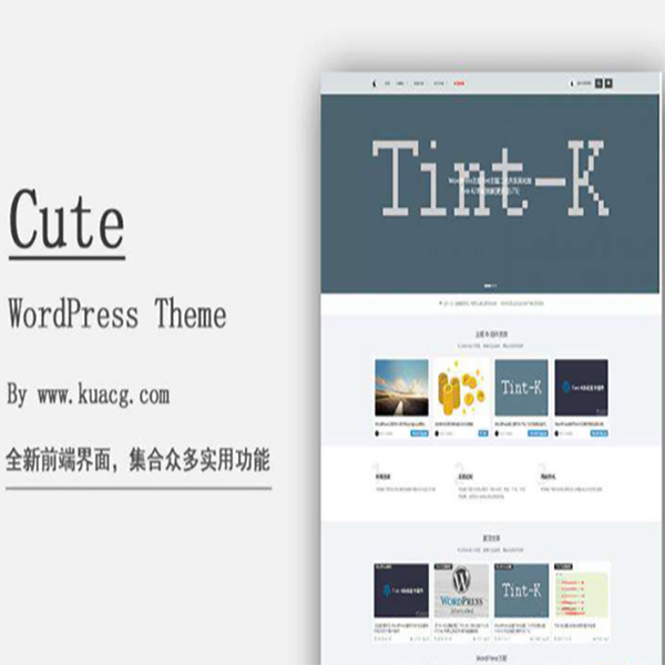 本站主题WordPress Cute原创官方主题内部团购价